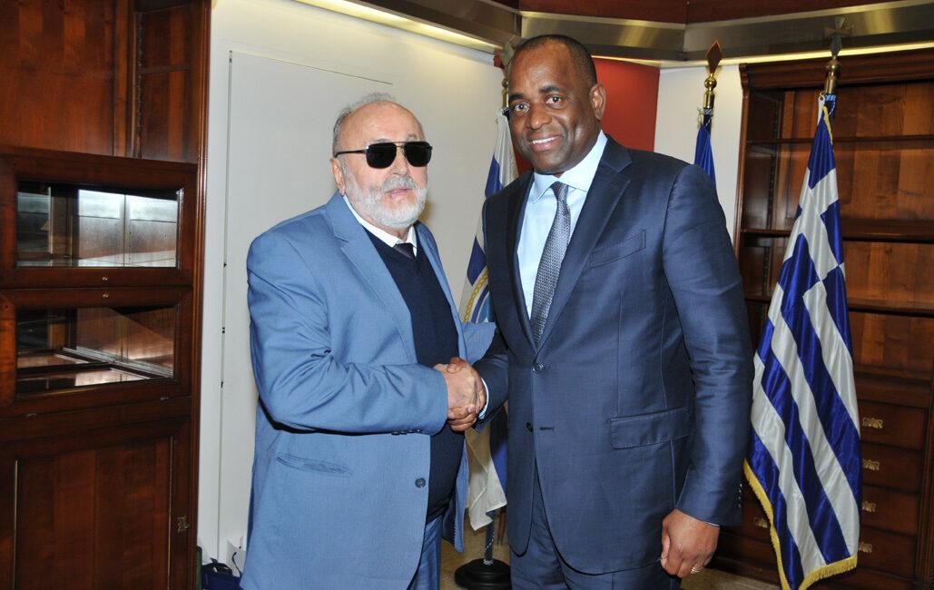 Roosevelt Skerrit meets Kouroumplis