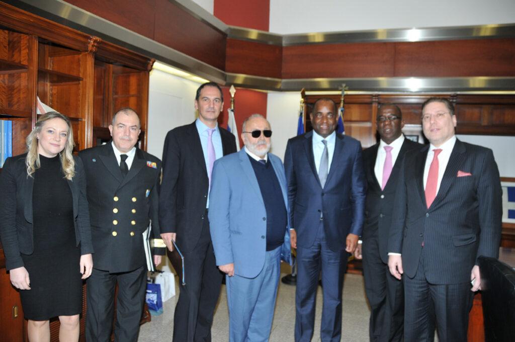 Roosevelt Skerrit, Dominica's PM meets Mr. Panagiotis Kouroumplis, Minister of Maritime Affairs