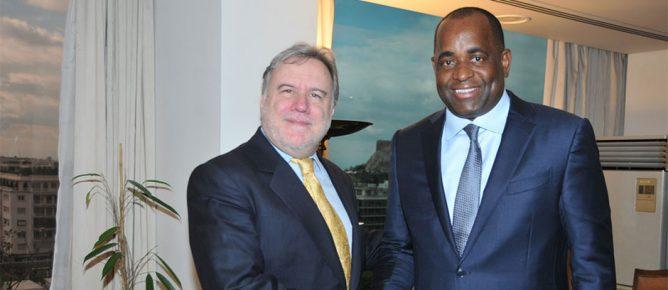 Roosevelt Skerrit meets Giorgos Katrougalos