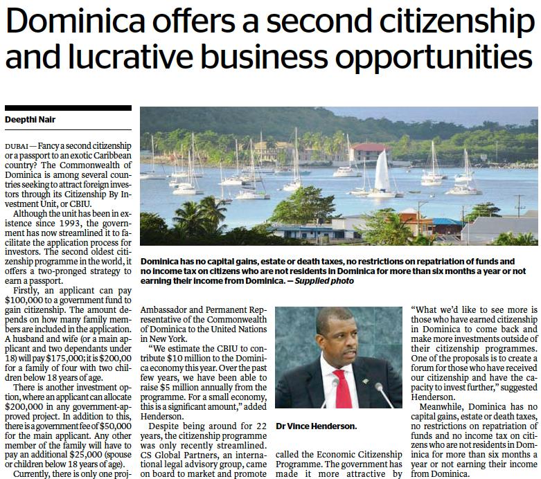 Dominica citizenship by investment - economic citizenship program