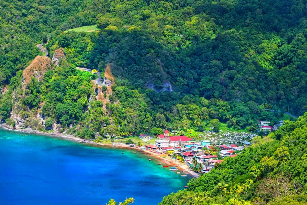 The Commonwealth of Dominica Country Island Sea View - The Nature Isle of the Caribbean